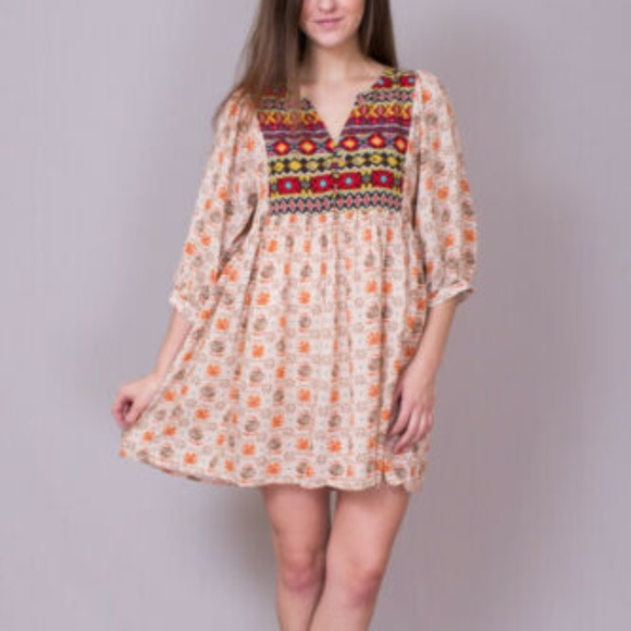 Umgee Dresses & Skirts - Umgee Free Spirit Boho Tunic Mini Dress